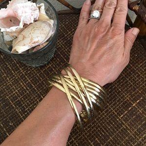 MACY'S Gold Tone Infinity Bangle Bracelets